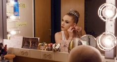 Sara Mearns in her dressing room preparing for Symphony in C. Photo by Nick Bentgen, Courtesy NYCB