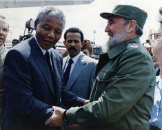Mandela and Fidel Winnie Mandela, Poster Boys, Role Player, Fidel Castro, Nelson Mandela, New World Order, Atheist, World History, Sa News