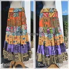 Ethnic Super Maxi Skirt  #hippie #hippiefashion #onlinestore #naturaleeza