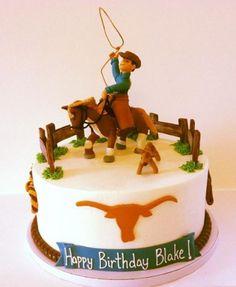 Cake Idea for Hubby's 55 birthday ... Texas Longhorn and Lassoing Cowboy theme birthday cake.JPG