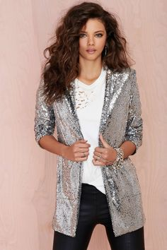 Nasty Gal Hustle Sequin Blazer | Shop What's New at Nasty Gal https://www.facebook.com/SLcomunidad