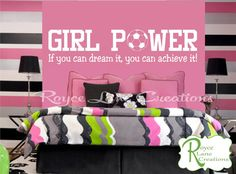 Girl Power Soccer Wall Decal by Royce lane Creations