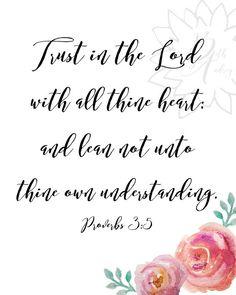 Proverbs 3:5 Bible verse printable. KJV. Contact me for a custom design!