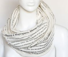 The Master and Margarita book on the scarf by LiteratiClub