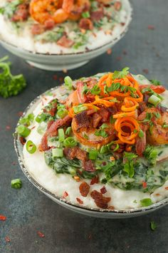 Shrimp and Grits a Ya Ya :: This homemade copycat of The Fish House's famous shrimp and grits is AMAZING! Vegetarian + T-rex versions available