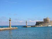 Rhodes Private Tours - Mandraki port in Rhodes Island Greece