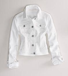 AE White Denim Jacket