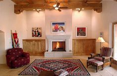 Modern Style Houses With A Spanish Flair Decorating Wood Beams Southwestern Home