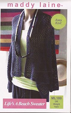 e8a3705ae5f428 Maddy Laine Easy Knit Knitting Pattern - Life s A Beach Cover-Up - I  Crochet World