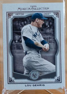 Cards from our lots! 2013 Lou Gehrig Topps Museum Collection.  Baseball Cards of the Month Club