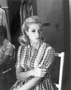 Elizabeth Montgomery on the set of Bewitched.