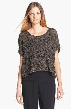 Eileen Fisher Sparkle Jacquard Top   Nordstrom
