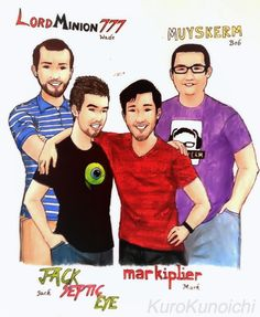 Started this yesterday and finished today. Love you guys. @LordMinion777 @Jack_Septic_Eye @markiplier @muyskerm