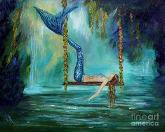 Mermaids Lazy Lagoon Painting