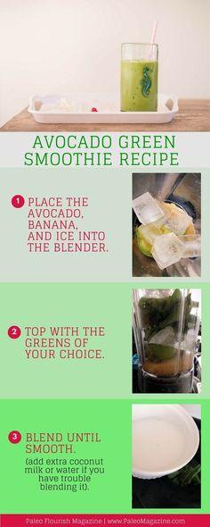 Avocado Green Smoothie Recipe [AIP, Paleo, Dairy-Free] #paleo #recipes #gluten-free http://paleomagazine.com/avocado-green-smoothie-recipe-aip-paleo-dairy-free