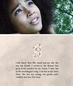 Hunger Games Quote / Katniss / Catching Fire / Rue