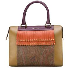Etro Fringe Panel Paisley Tote (£715) ❤ liked on Polyvore featuring bags, handbags, tote bags, purses, multicolour, genuine leather tote bag, leather purse, genuine leather purse, leather handbags and real leather handbags