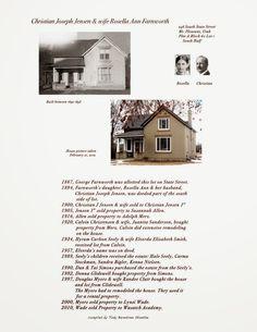 The home of Christian Joseph and Rozella Farnworth Jensen in Mount Pleasant, Utah.