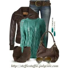 Love teal and brown