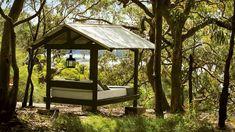 a bed outside? yep, ill take it. pretty house; sydney, australia