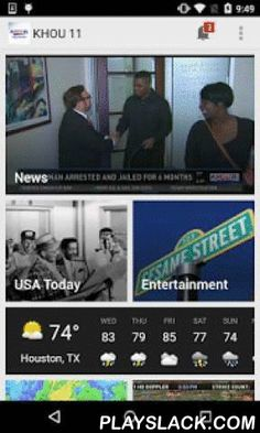 KHOU 11 News Houston  Android App - playslack.com ,  This is the official mobile application of KHOU 11 News and KHOU.com, the CBS affiliate in Houston, Texas. The app is free and offers breaking news, top stories, weather, sports and traffic. You can count on continuous, award-winning coverage of local, national, state and world news. You'll also have immediate access to the latest articles and videos from the KHOU 11 Newsroom and enjoy up-to-the-minute coverage -- all in one convenient…