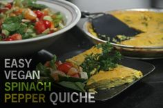 Easy Spinach and Pepper Quiche [Vegan, Gluten-Free] | One Green Planet