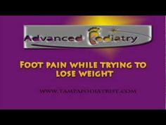 In this video, Dr. Marc Katz discusses a common scenario of exercising for weight loss and developing foot pain. Watch this video to find out whether this is. Weight Loss Detox, Easy Weight Loss, Healthy Weight Loss, Trying To Lose Weight, Reduce Weight, How To Lose Weight Fast, Ways To Burn Fat, Get In Shape, Ankle Pain