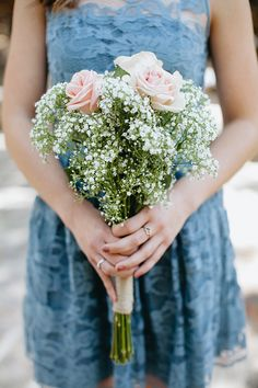 baby's breath bouquet | Jay & Jess Photography | Glamour & Grace