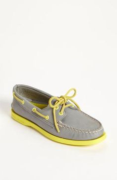 grey and yellow sperry's. love this brand.. super comfy