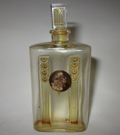 C1920 RARE Old Vintage French Cameo Etched Perfume Bottle Made in France   eBay