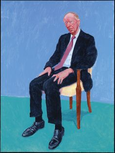 David Hockney Jacob Rothschild, 5 y 6 de febrero de 2014 (Jacob Rothschild, 5th, 6th February 2014) de 82 retratos y 1 bodegón Acrílico sobre lienzo (de un conjunto de 82) 121,92 x 91,44 cm © David Hockney Crédito de la foto: Richard Schmidt