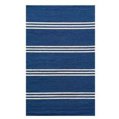 Bring richly colored striping to your foyer or patio with this hand-hooked indoor/outdoor rug.   Product: RugConstruction Material: 100% PolypropyleneColor: Maritime blueFeatures:  Suitable for indoor and outdoor useHand-hookedUV-protected and mildew-resistant Note: Please be aware that actual colors may vary from those shown on your screen. Accent rugs may also not show the entire pattern that the corresponding area rugs have.Cleaning and Care: Professional cleaning recommended. Blot stains…