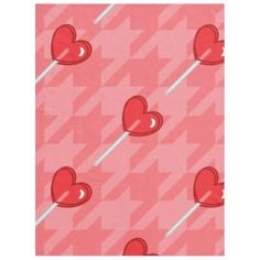 pink houndstooth heart lollipop blanket - valentines day gifts love couple diy personalize for her for him girlfriend boyfriend