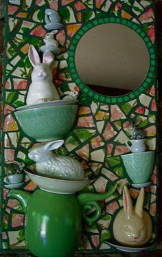 Carolines Treasures Lionhead Rabbit Blue Check Ceramic Night Light 6x4 Multicolor