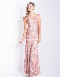 MICHELLE  OFF SHOULDER SEQUIN GOWN-new arrivals-Bariano - Fashion Designer Australia