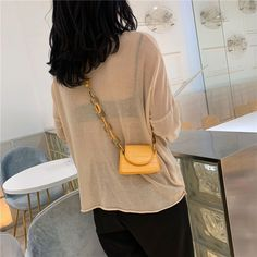 The Sylvia Mini Chain Tote Bag – Im So Official Mini Crossbody Bag, Tote Bag, Review Fashion, Leather Material, Everyday Look, Ladder, Girl Fashion, Chain, Bags