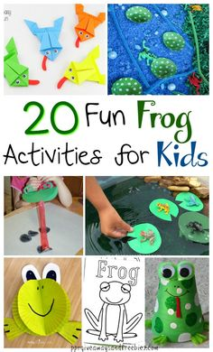 Frogs can be so cute! Okay, maybe not when they're slimy in the water, but the frogs in these 20 activities sure are cuties. Spring is a great time to teach the kids about these green guys. There's plenty of projects, games, and crafts to keep everyone entertained all day. There's craft projects such as making a frog out of a styrofoam cup and a froggy coloring page in this 20 Fun Frog Activities for Kids,