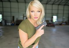 Anna Taylor is the founder and CEO of Dene Adams. She designs innovative concealed carry holsters that offer maximum concealment and comfort without jeopardizing tactical access. Concealed Carry Women, Concealed Carry Holsters, Inside The Waistband Holster, American Manufacturing, Kydex Holster, Running Leggings, Powerful Women, Ladies Day, Women Empowerment