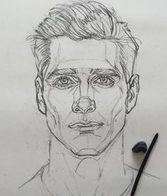 Drawing Portraits - ✏ Art Gallery نقاشی یعنی خوب دیدن Discover The Secrets Of Drawing Realistic Pencil Portraits.Let Me Show You How You Too Can Draw Realistic Pencil Portraits With My Truly Step-by-Step Guide. Portrait Sketches, Pencil Portrait, Portrait Art, Drawing Portraits, Male Face Drawing, Face Sketch, Pencil Art Drawings, Art Drawings Sketches, Anatomy Sketches