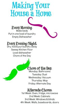Managing chores Good schedule Tip Junkie, Out Of Hand, Weekly Cleaning, Baby Shower For Men, Self Care, Shipping Container Homes, Staying Organized, Make It Yourself, Wellness
