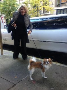 JOAN RIVERS & HER DOG ,