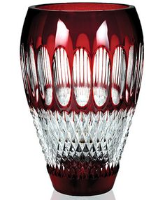 """Waterford Gifts, Colleen 60th Anniversary Ruby Vase 8\"""""""