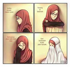 Semuanya Akan Ok Berdoa Lah Kepada Allah Untuk Yang Terbaik Anime Muslim Islamic Cartoon
