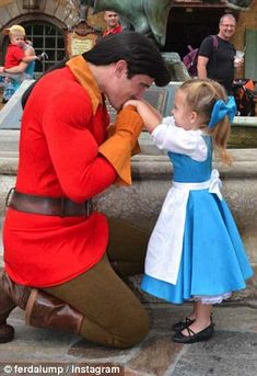 Part of the Disney family: The youngster is friends with almost all of the regular perform...