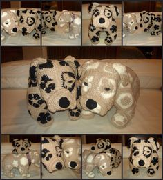 African Flower Bull Dog.. Pattern : available @ http://www.ravelry.com/designers/heidi-bears. Hand Made By Craftypaulaa