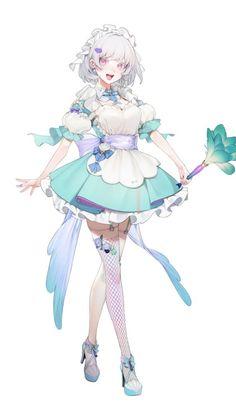 [공유] 번역) 음과 양의 평범한 여고생 (존나 야함) : 네이버 블로그 Female Character Design, Character Design Inspiration, Character Concept, Character Art, Girls Characters, Fantasy Characters, Anime Characters, Kawaii Anime Girl, Anime Art Girl