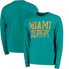 991d23ba2 Miami Dolphins NFL Pro Line Straight Out Long Sleeve T-Shirt - Aqua