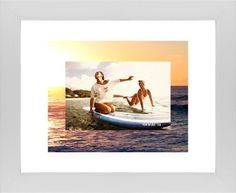 Picture in Picture Gallery of Two Framed Print, White, Contemporary, None, White, Single piece, 8 x 10 inches