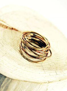 vékony, sárgaréz-vörösréz  rakásolható gyűrű, Ékszer, óra, Gyűrű, Meska Cuff Bracelets, Jewelry, Jewlery, Jewerly, Schmuck, Jewels, Jewelery, Fine Jewelry, Jewel
