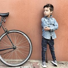 Little Fashion, Inspiration For Kids, Bicycle, Instagram Posts, Outfits, Bike, Suits, Bicycle Kick, Bicycles